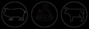 gris fjerkræ oksekød